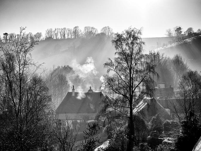 Mike Harris_Misty morning in the village
