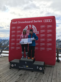 Toursieg U15 Audi Snowboardseries - Laila Baetschi ist Schweizermeisterin!