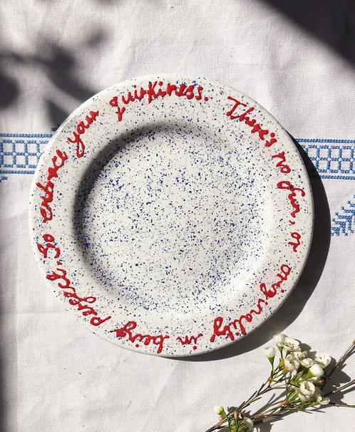 Specks of Originality Plate