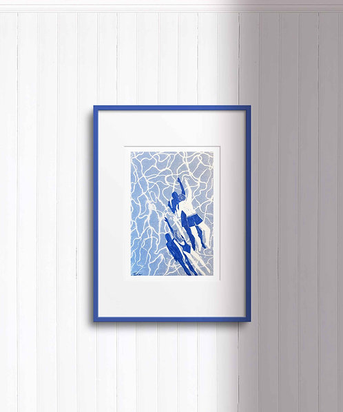 Sloterplas Swimmers in Blue (digital print)