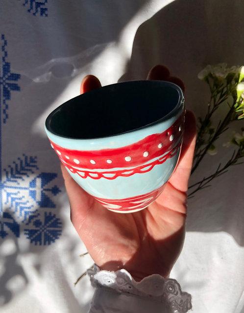 Decorative Folk Cup