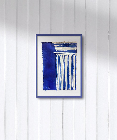 One-of-a-kind: Doric Column in Blue