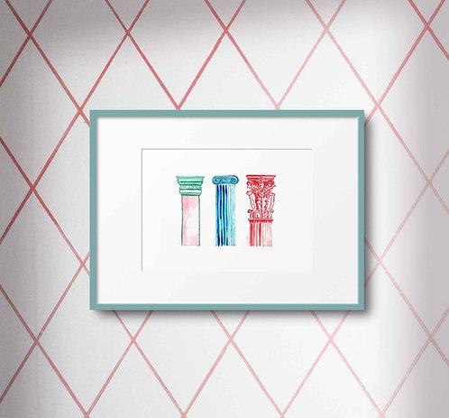 Classical Pillars (digital print)
