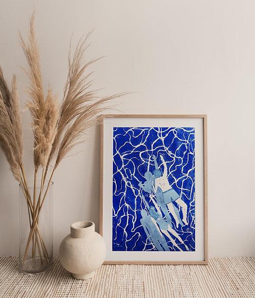ORIGINAL: Sloterplas Swimmers in Colbalt Blue