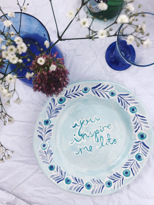 You Inspire Me Plate