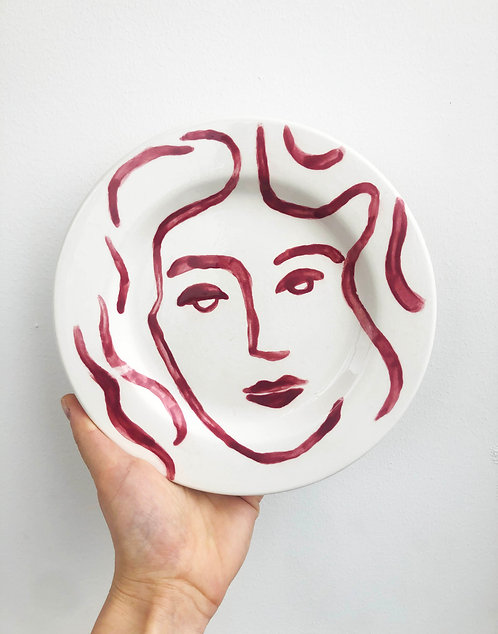 Lady in Red Plate