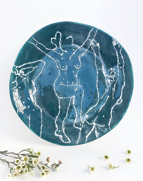Grassy Green Groovers Plate