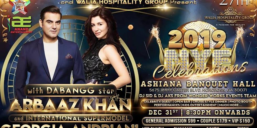 New Year 2019 with Bollywood Star Arbaaz Khan and International Supermodel Georgia Andriani
