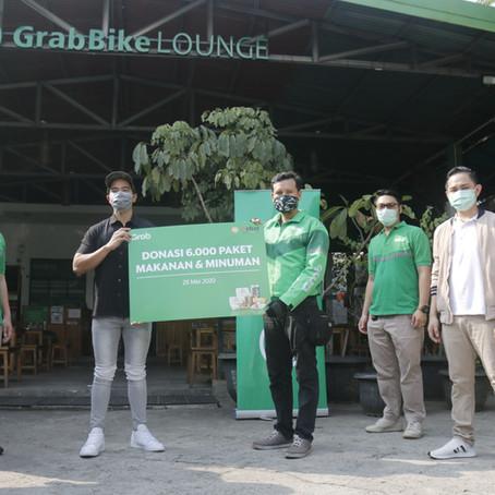 Kaesang dan Grab Indonesia Bagikan 6000 Makanan untuk Mitra Pengemudi Grab