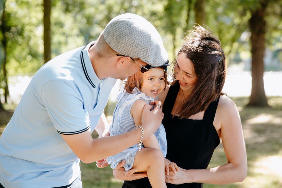 séance famille au parc