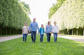 une marche en famille