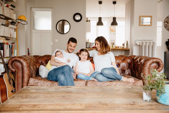 séance famille à la maison