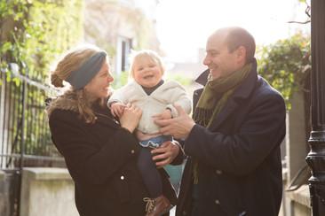 photo famille en ville