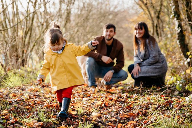 séance famille dans la nature