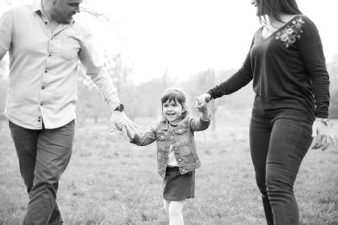 séance photo en famille dans la nature