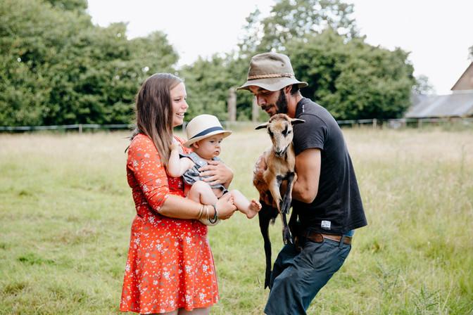 séance famille avec les animaux