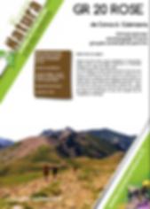 programme fait par corsica natura pour  GR20rose