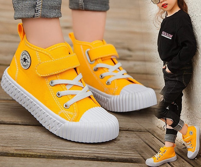 Children Canvas Shoes Boys Sneakers Girls Tennis Shoes Kids Footwear Toddler