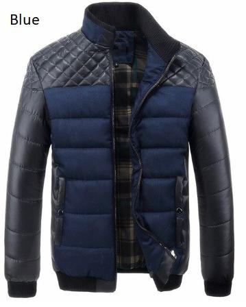 New 2019 Winter Men's Jacket Coats Casual Stand Collar Warm Coat Mens Autumn Cot