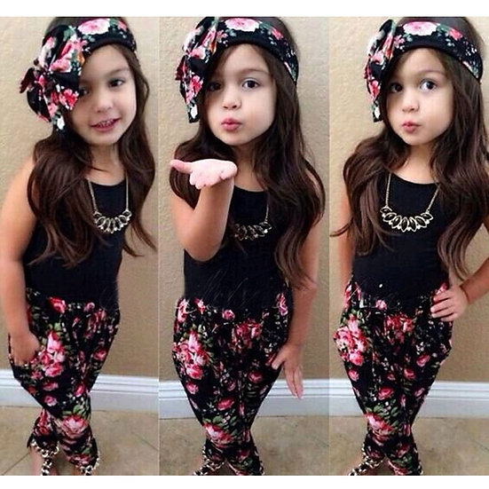 Years Kids Clothes Girl Outfits Summer Baby Girl Clothes Sets Cotton Sleeveless