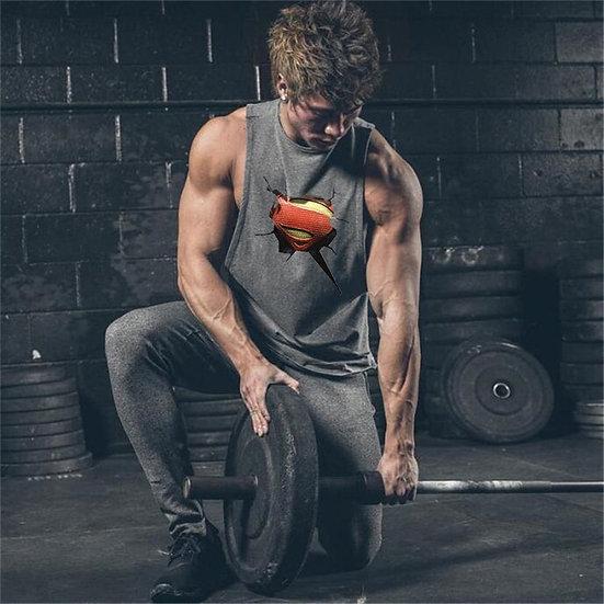 Running Vest Cotton Sleeveless T Shirts Gym Stringer Tank Top Men Fitness Shirt