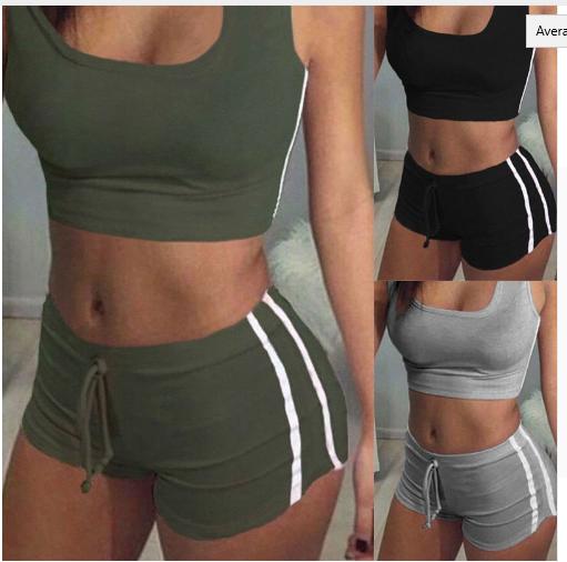 brand new hot top UK Womens color Patchwork Clothes Suit Sportwear workout exerc
