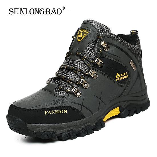 Brand Men Winter Snow Boots Waterproof Leather Sneakers Super  Warm Men's Boots