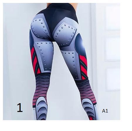 Harajuku Punk Steel Robot Digital Print Leggings Women Sexy Hips Push Up Fitness