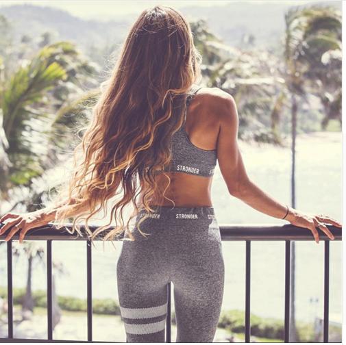 2018 Women Yoga Sets Vest Fitness Suit GYM Wear Workout Clothing Running Slim Le