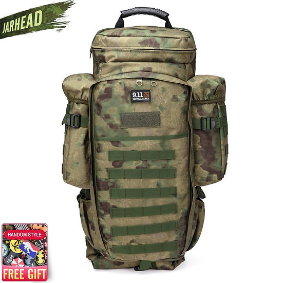 911 Military Combined Backpack 60L Large Capacity Multifunction Rifle Rucksacks