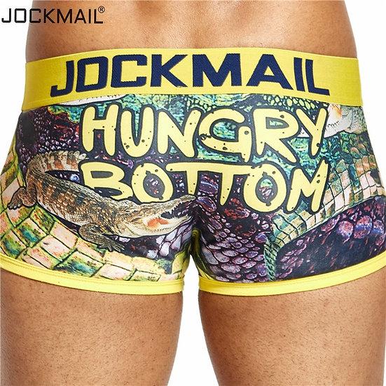 JOCKMAIL Sexy Men Underwear Boxer Playful Printed Gay Underwear Calzoncillos