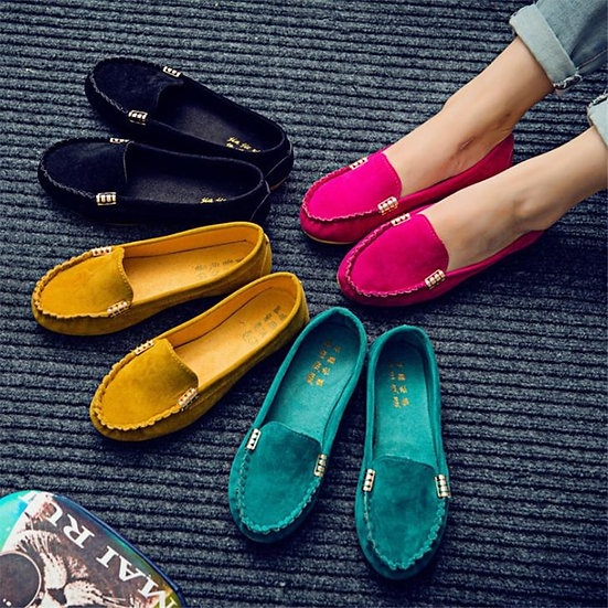 Women Casual Flat Shoes Spring Autumn Flat Loafer Women Shoes Slips Soft Round