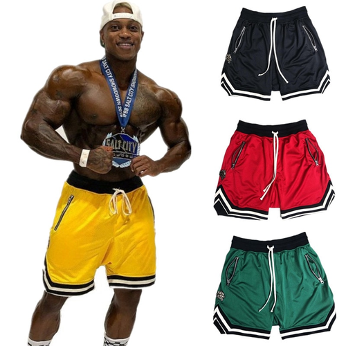 Mens Gym Fitness Shorts Bodybuilding Run Jogging Workout Male 2018 New Knee