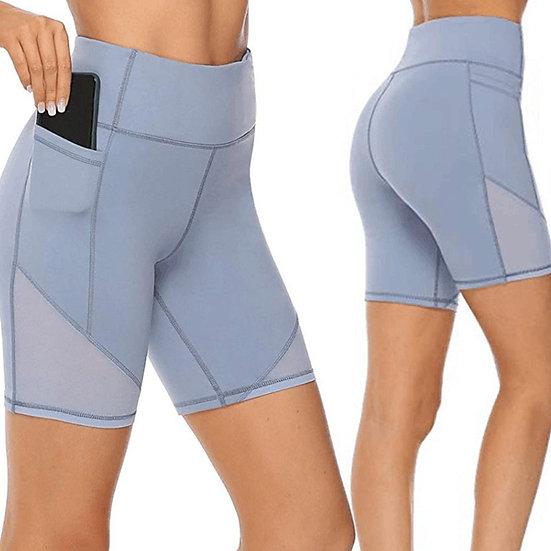 Plus Size Yoga Shorts Gym Fitness Shorts Quick-Drying Women High Waist Sport