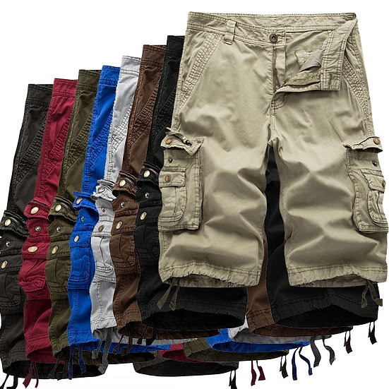 Cargo Shorts Men 2020 Summer Army Military Tactical Homme Shorts Casual Solid