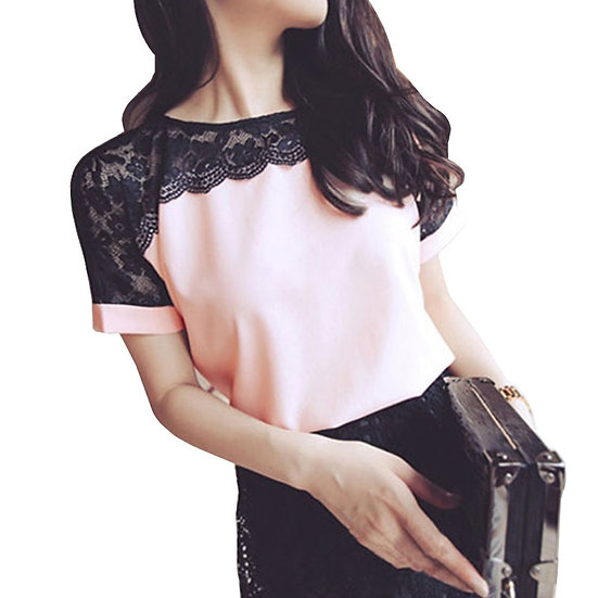 Blouses Women Lace Summer Tops and Blouses Casual Chiffon Blouse Female Work