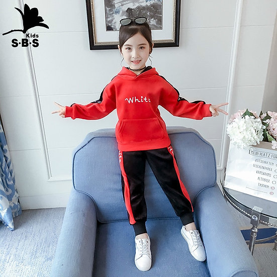 Autumn Winter Girls and Boys Clothes 2 Pieces Casual Sets Gold Velvet Tracksuit