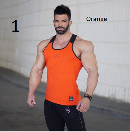 2018 New Gyms Tank Tops Bodybuilding Men Elastic Cotton Vest O-Neck Gyms Tank To