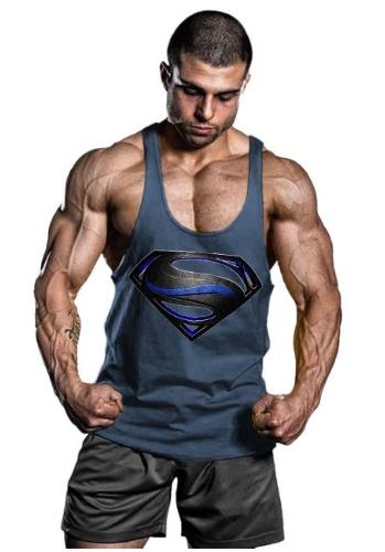 1ff7ada0 OA Men Superman Black Men Bodybuilding Tank Top Muscle Shirts Gym ...