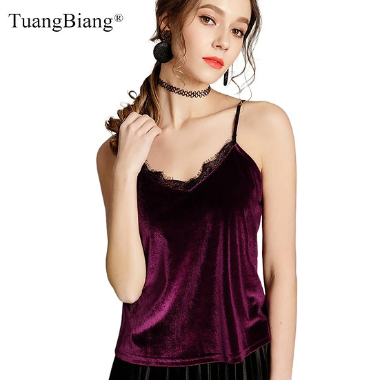 Lace Crop Top Women Autumn Camis Camisole Ladies Large Size Halter Tops Clothing