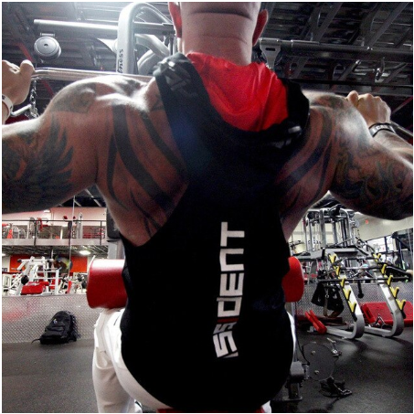 Summer Bodybuilding Tank Top with hooded Mens Gyms Clothing Fitness Mens Sleevel