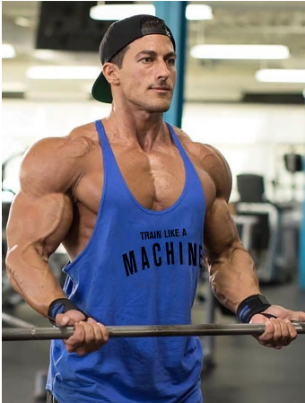 Gym Mens Tank Top Vest Muscle Fashion Sleeveless Stringer Brand Back Clothing Bo
