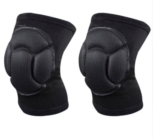 Sponge Knee Support Black Soccer Knee Pads Protector Sports Kneepads Fitness Goa