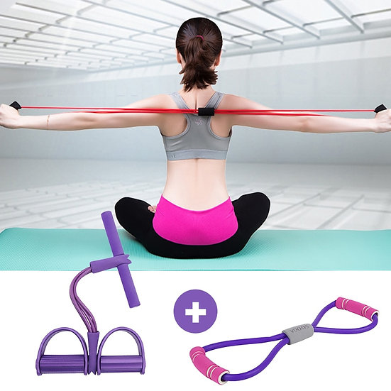 Hot Fitness Resistance Bands+8 Word Chest Expander Rope Workout Muscle Fitness