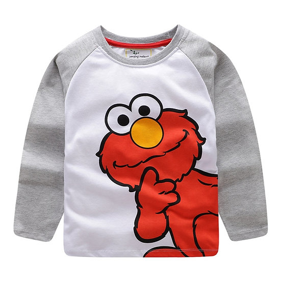 Jumping Meters New Cartoon Children T Shirts Cotton Fashion Kids Long Sleeve Hot