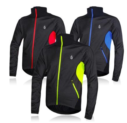 WOSAWE Winter Fleece Thermal Cycling Jacket Windbreaker Warm Up Outdoor sports B