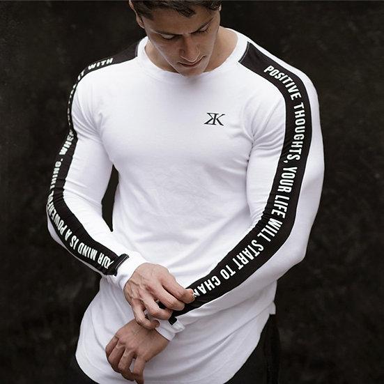 Long Sleeve Sport Shirt Men Fitness T Shirt Gym Tshirt Sportswear Dry Fit Men
