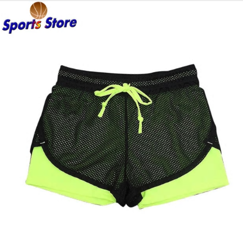 Yoga Shorts Women Sport Fitness 2 In 1 Women Athletic Shorts Cool Ladies Sport R