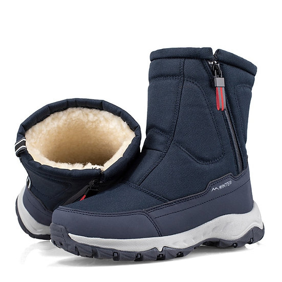 Winter New Thick Couple Snow Boots Plus Velvet Warm Side Zipper Outdoor Casual
