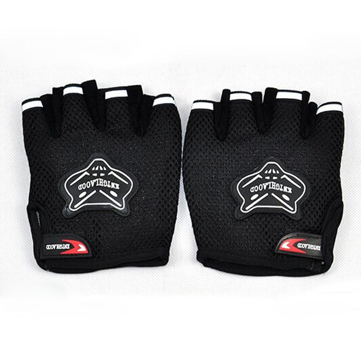 Black 1Pair Men's Fitness Cycling Gloves Wrist Half Gloves Bike Bicycle Sports G